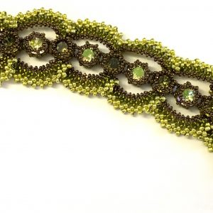Ducks and Drakes bracelet - Bronze and acid lime